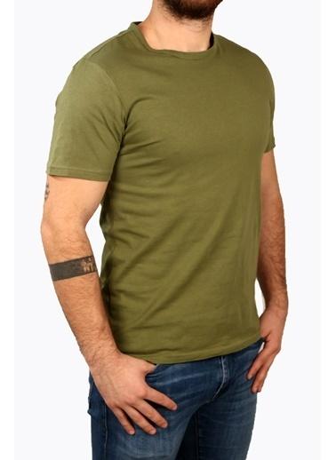 Derigo Haki Erkek Bisiklet Yaka T-Shirt 68503 Haki